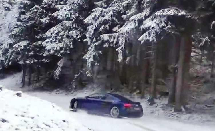 The best drift snow Audi R8