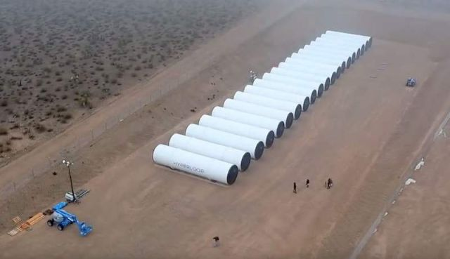The first Hyperloop tubes in the desert