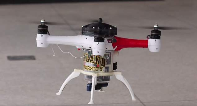 Drone can Fly, Float and Dive underwater