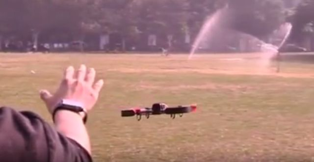 Using an Apple Watch to fly a drone