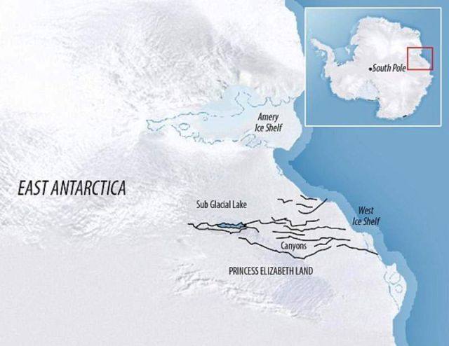 World's largest Canyon discovered beneath the Antarctic ice sheet