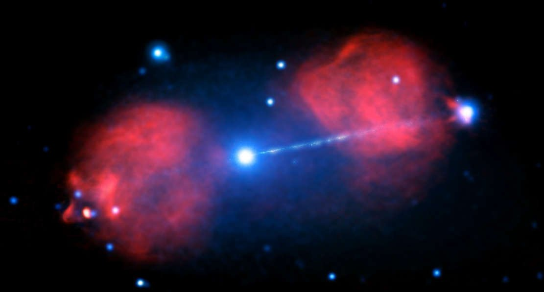 Enormous Blast from supermassive Black Hole in a Galaxy ...