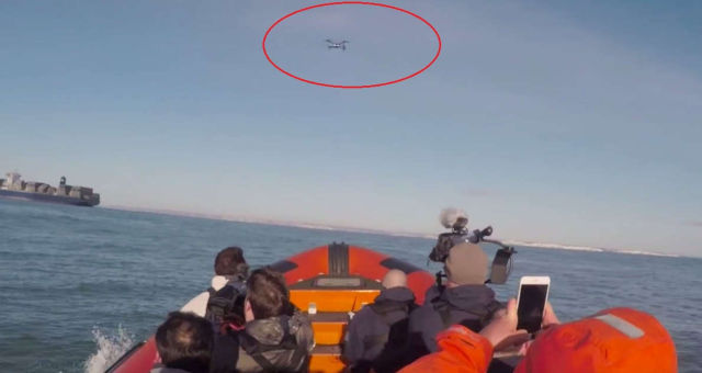 First Drone to fly across the English Channel