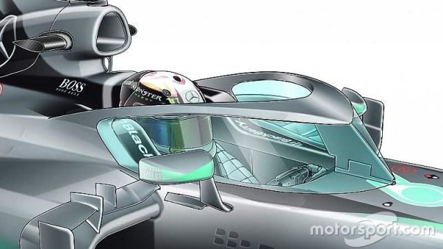 Formula 1 new closed cockpit solution