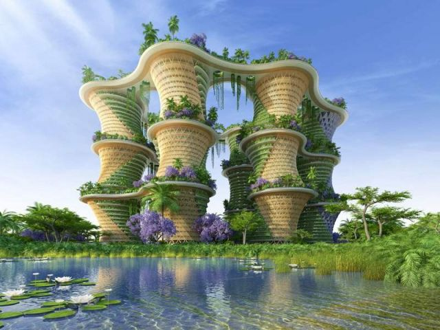 Hyperions- Sustainable Agro-Ecosystem by Vincent Callebaut Architectures