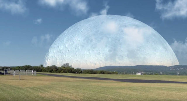 If the Moon were at the same distance as the Space Station (1)