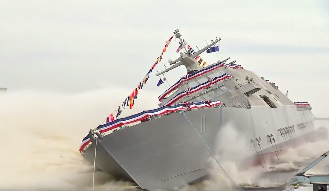 Littoral Combat Ship USS Sioux City Side Launch