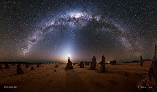 Milky Way over the Pinnacles in Australia