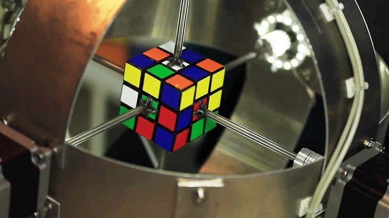 Robot breaks Rubik's Cube-solving one-second barrier