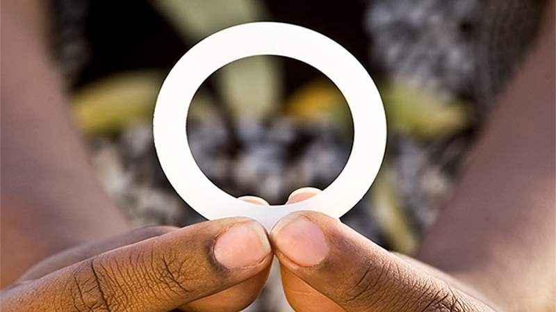 Simple Ring provides partial Protection from HIV