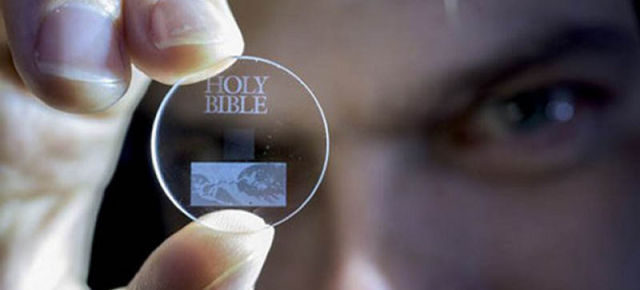 Storing 360TB of data on a Quartz Disc for billions of years