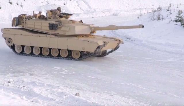 Tanks Drifting in Snow