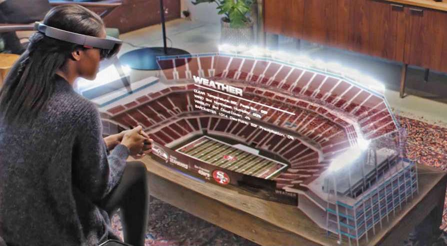 The future for NFL fans according to Microsoft