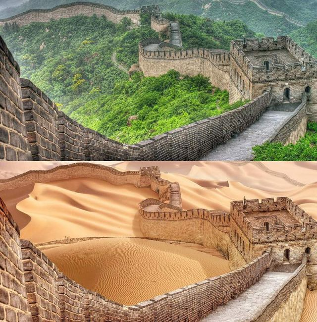 Drought dries up the world's Great Landmarks (6)