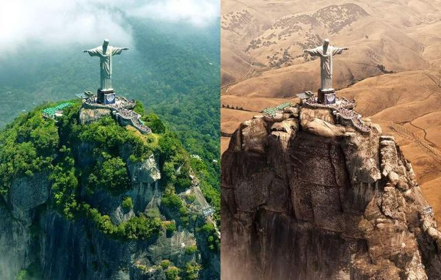 Drought dries up the world's Great Landmarks (5)