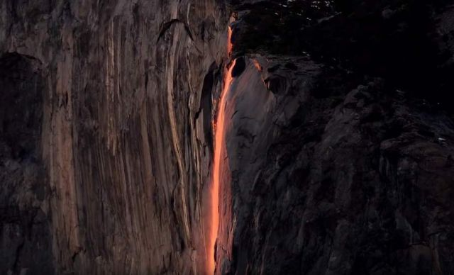 Yosemite Natural Firefall 2016