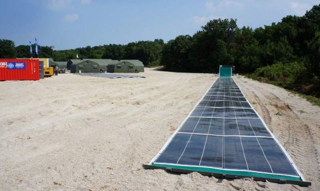 A solar array that rolls out like a carpet