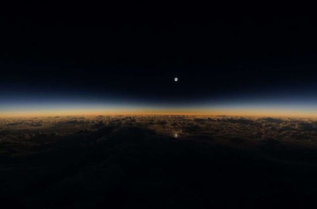 Alaska Airlines Solar Eclipse from 35,000 feet