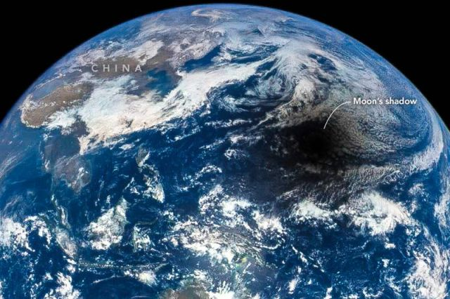 An epic Solar Eclipse from space