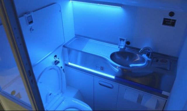 Boeing's new UV light self-cleaning bathroom