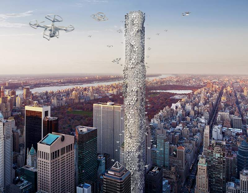 Drone Skyscraper in Manhattan (5)