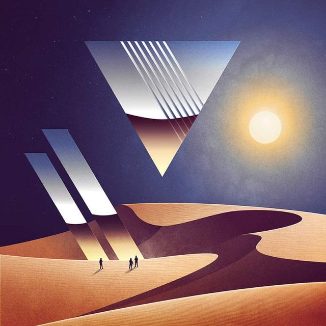 Geometrical Sci-Fi landscapes by James White