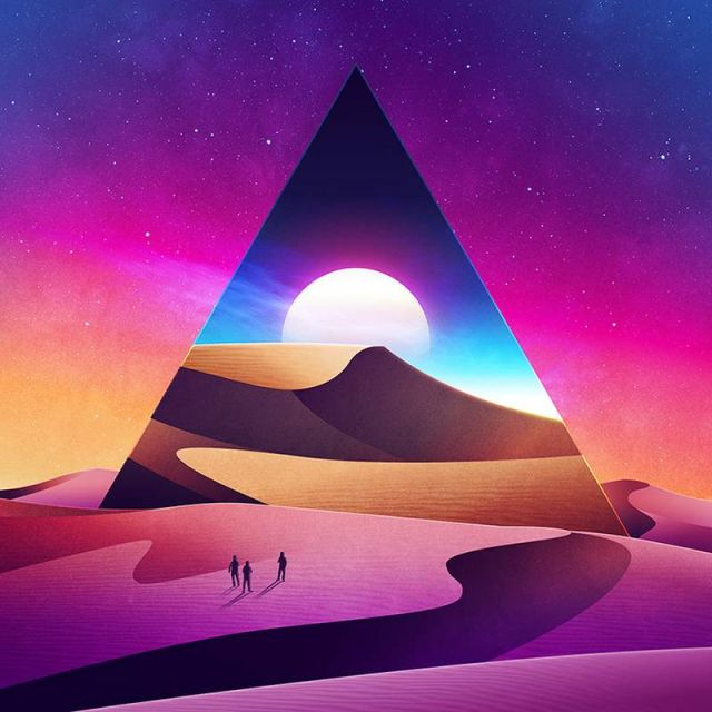 Geometrical Sci-Fi landscapes by James White (5)