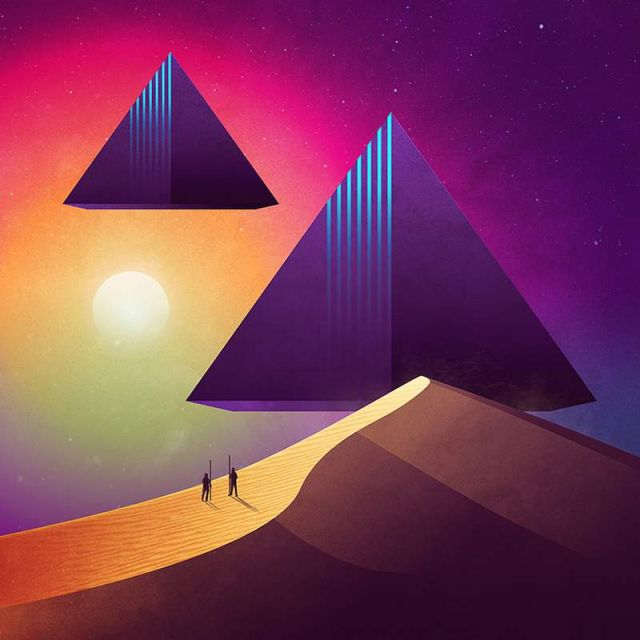 Geometrical Sci-Fi landscapes by James White (4)