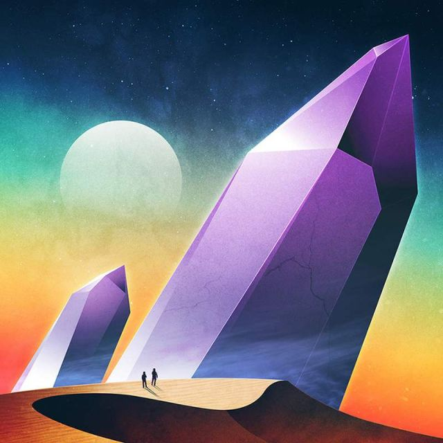 Geometrical Sci-Fi landscapes by James White (3)