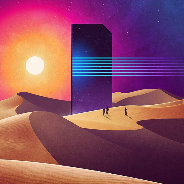 Geometrical Sci-Fi landscapes by James White (1)