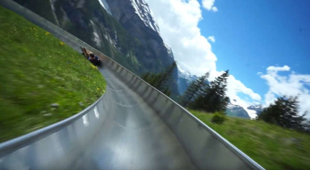 Giant Mountain Coaster in Switzerland