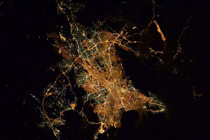 Athens from Space Station
