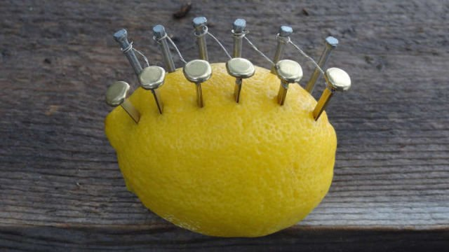 How to make Fire with a Lemon