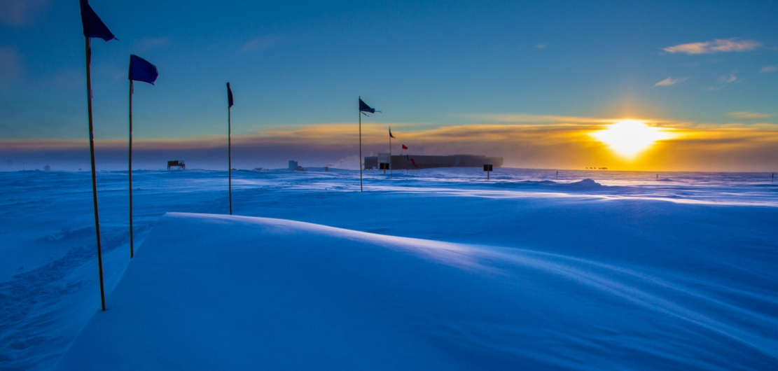 Last Sunset for six months in Antarctica