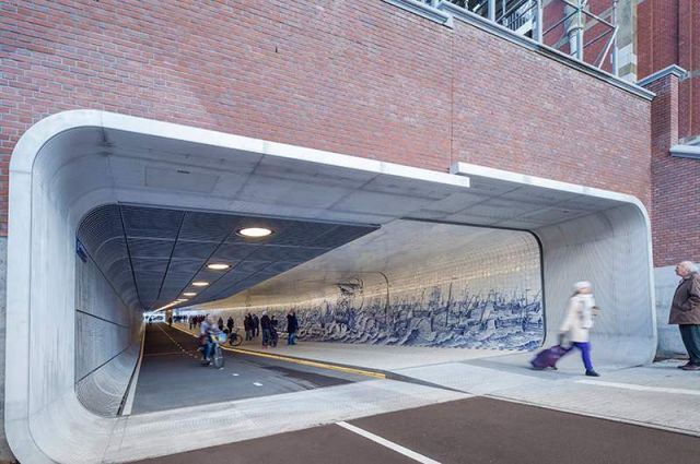 Pedestrian Tunnel featuring an 80,000 Tile Mural