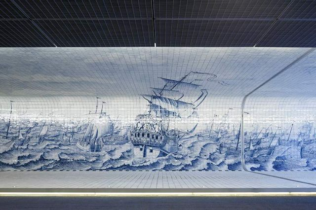 Pedestrian Tunnel featuring an 80,000 Tile Mural (3)