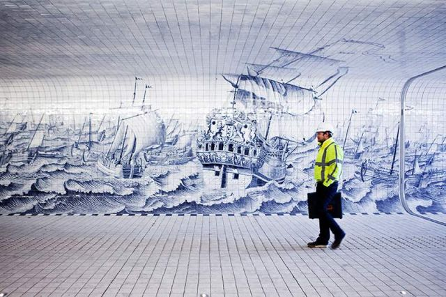 Pedestrian Tunnel featuring an 80,000 Tile Mural (1)