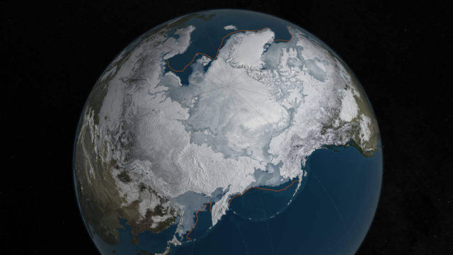 Record Low Arctic Sea Ice Wintertime 2016