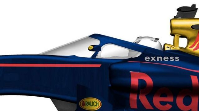Red Bull's proposal for the new F1 canopy design