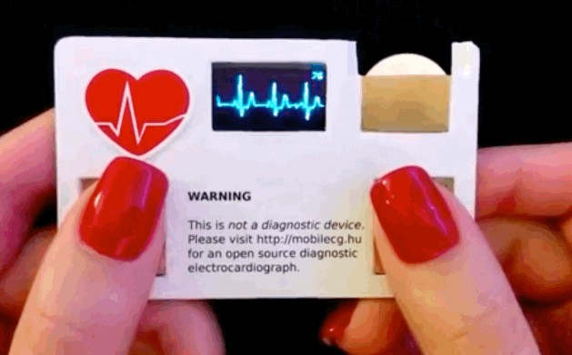 The electroCARDiograph business card