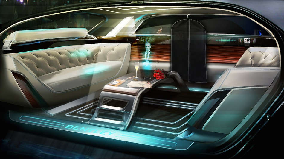 Bentley, imagines the autonomous car