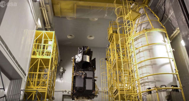 Watch how a Satellite gets ready to go to Space