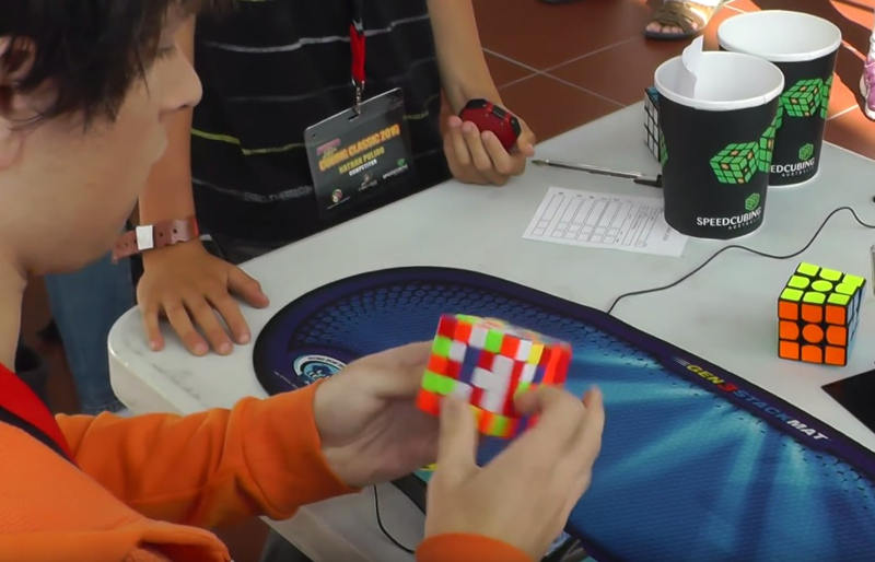 5x5 Rubik's cube world record