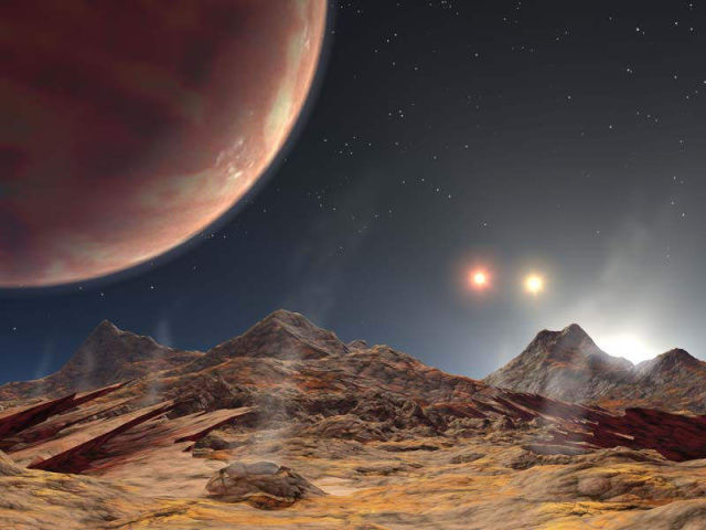 Astronomers discovered a Planet in a Triple-Star system