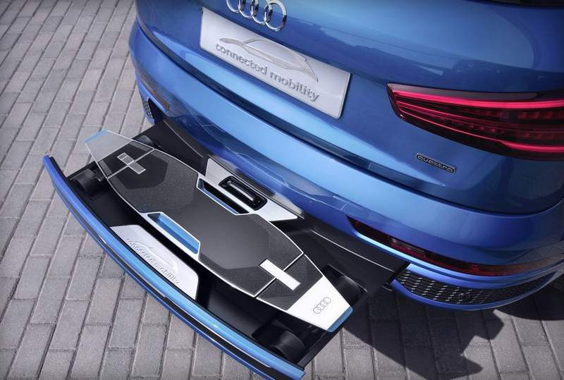 Audi has an electric longboard in the bumper of a Q3 (5)