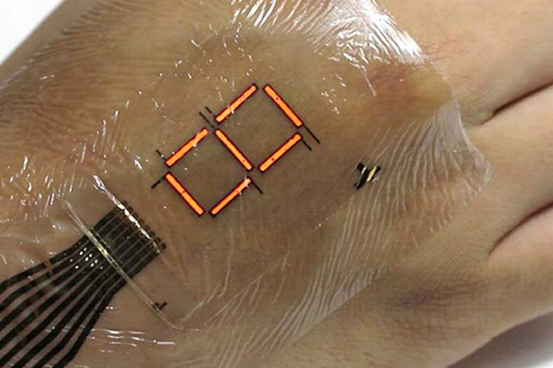 Extremely thin Flexible e-skin display