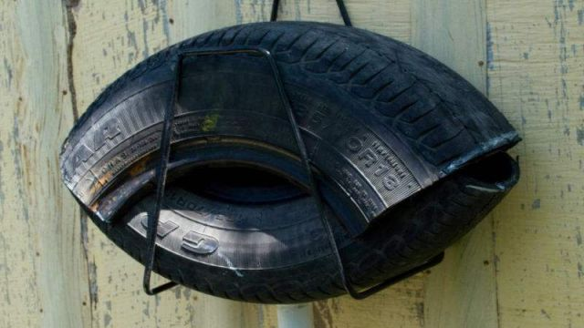 Fighting Mosquitos with junked tires