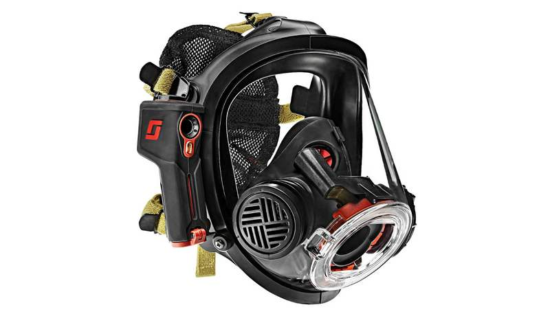 Firefighter mask with thermal intelligence system
