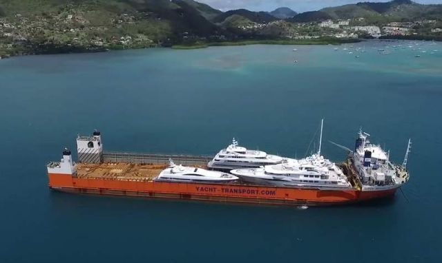 Yacht Carrier sinks and then rises to Transport them (2)