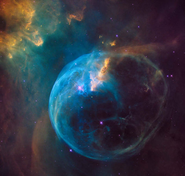 Bubble Nebula, also known as NGC 7653